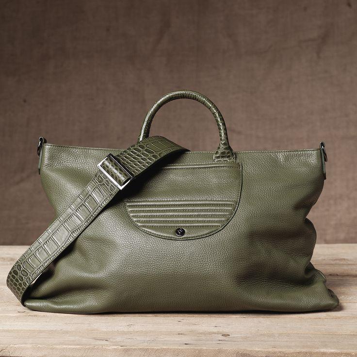 Monaco Weekender - Back View #Weekend #Leather #Pebbled #FW15  #Handbag