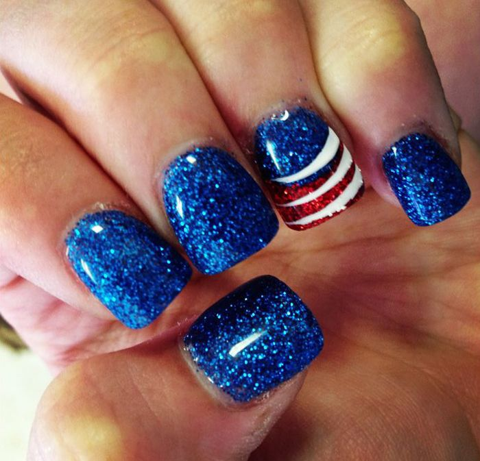 4th of July | Memorial Day Nail Art Design