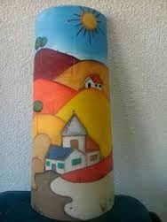 Resultado de imagen para telha pintada a mao com massa corrida