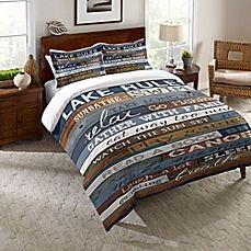 image of Laural Home® Lake Rules Comforter in Blue