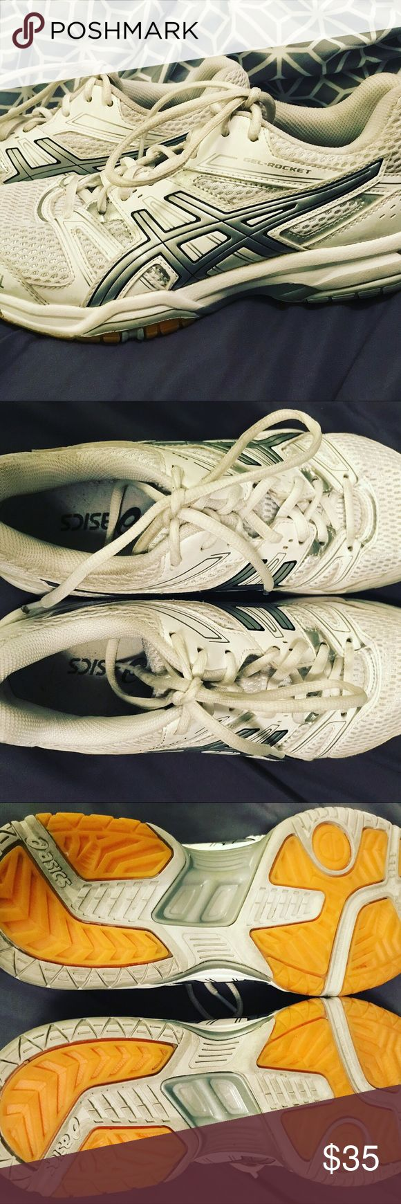 ASICS // volleyball shoes // Gel-Rocke Prologue:  Volleyball mission complete. Time for something new. • • Story:  ASICS // volleyball shoes // Gel-Rocke// worn a handful of times // white with gray accents // women's size 8 //  • • Epilogue:  time for you to jump, set, and spike. • •…