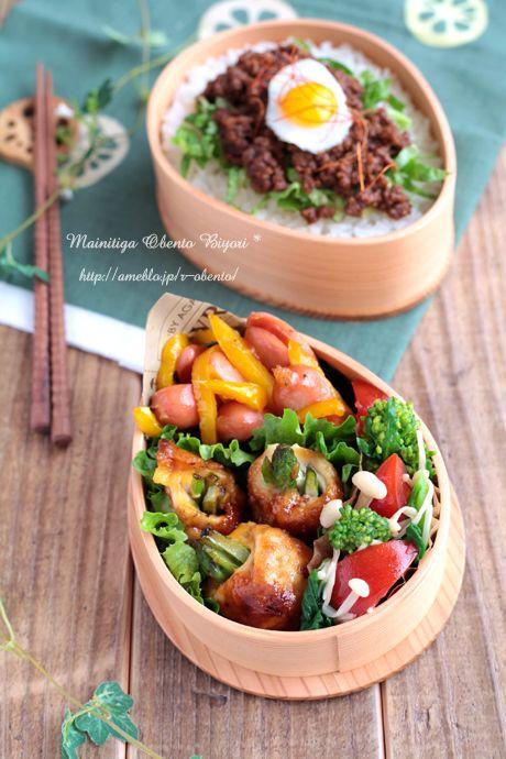 ささ身のアスパラチーズ巻き弁当 | Asparagus & cheese chicken roll