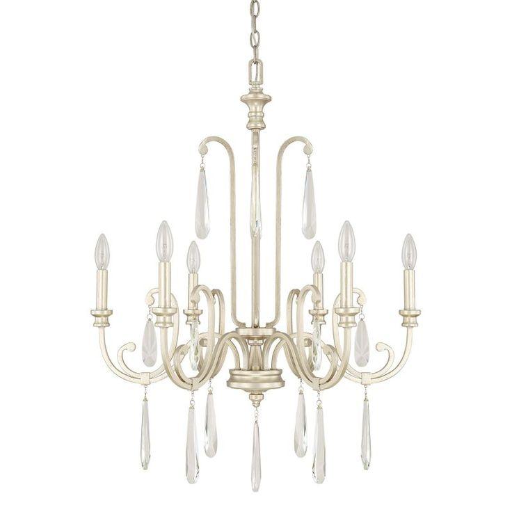Capital Lighting 413662 Cambridge 6 Light 1 Tier Chandelier Winter Gold Indoor Lighting Chandeliers