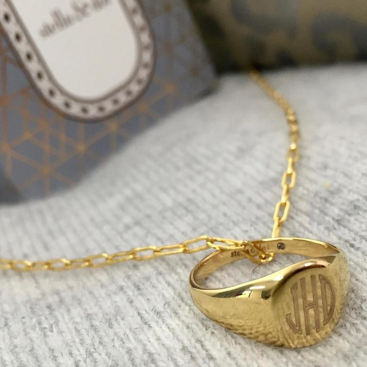 Need Now: An effortless monogram never goes out of style. Worn alone or on a chain our brand-new $59 Signet Ring is about to become a mainstay in your collection. What will you engrave on yours? http://www.stelladot.com/angiehurlburt