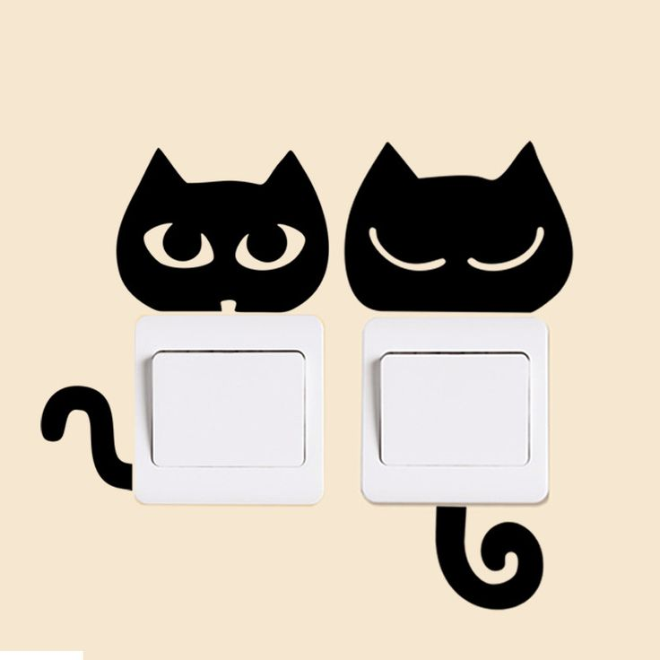 Encontrar Más Pegatinas de Pared Información acerca de 4 estilos negro gatos divertidos ojo interruptor de la cola pegatinas gatos animales decoración del hogar etiqueta de la pared dormitorio sala de estar decoración del interruptor, alta calidad vinilo decorativo de la pared pegatinas, China decoración etiqueta de la pared Proveedores, barato papel adhesivo decorativo de someday house en Aliexpress.com