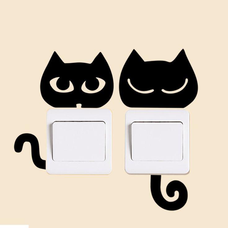 Las 25 mejores ideas sobre dormitorio de gato en - Pegatinas de pared baratas ...