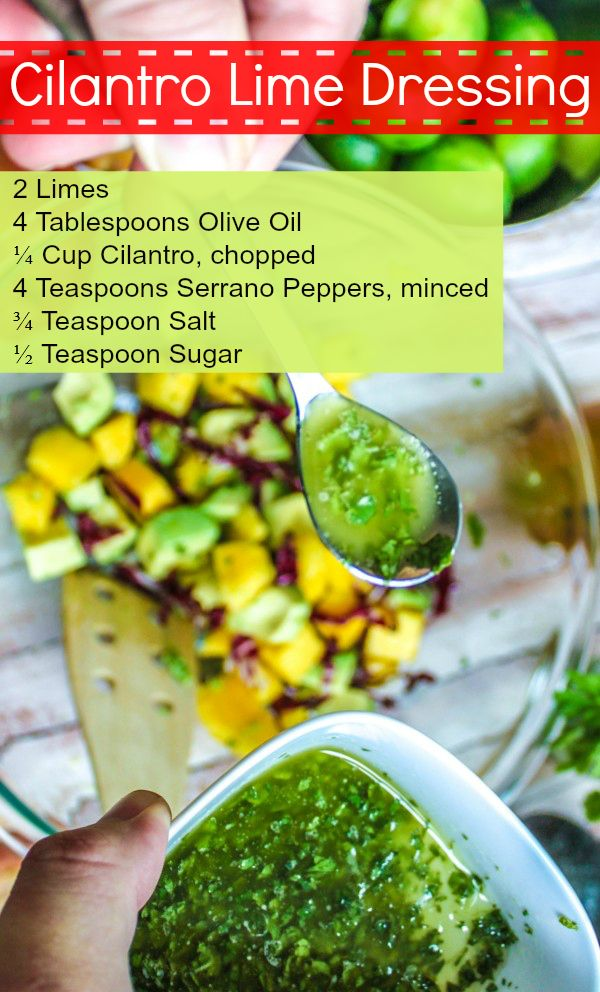Delicious, quick and easy - Cilantro lime dressing. cookingstoned.tv