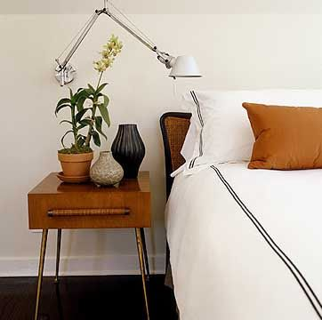 Love this palette: white, tan and black. And, the simplicity of the design is minimal and warm.