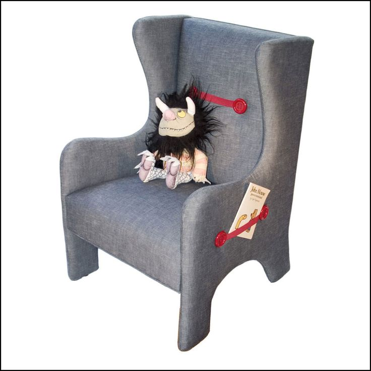 Children's Upholstered Wing Chair. Elastic straps too!