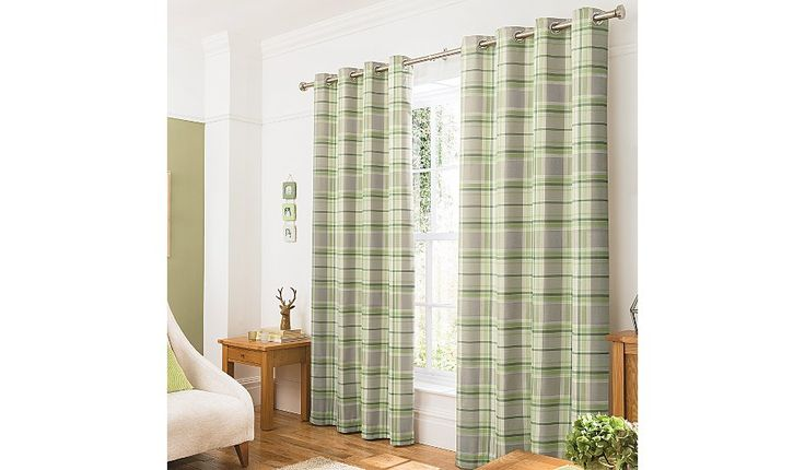 Buy George Home Green Woven Check Curtains from our Curtains range today from George at ASDA.
