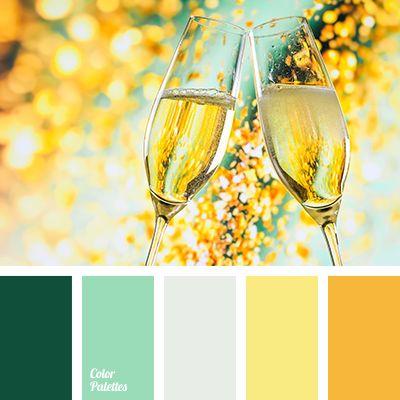 Color Palette #1820 Golden door, aqua pots