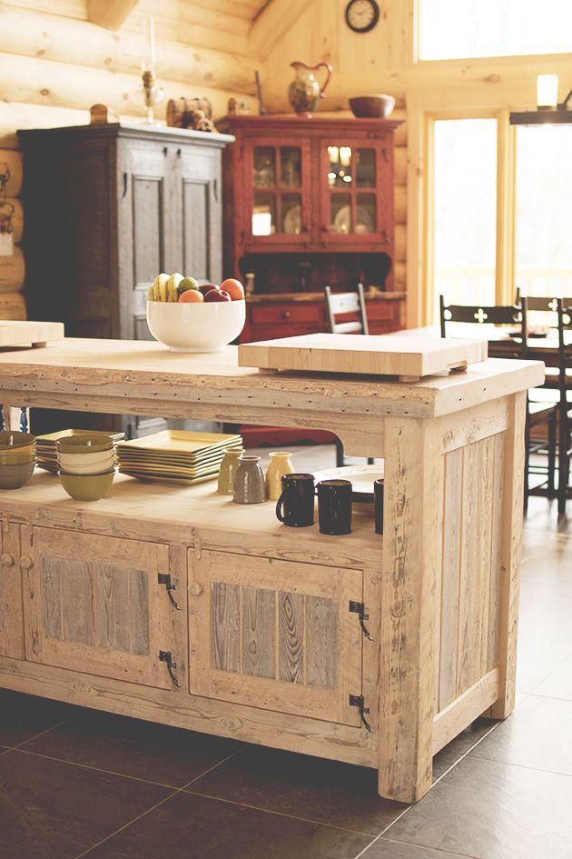 Lot de cuisine en bois de grange julie houde audet for Cuisine ouverte grange