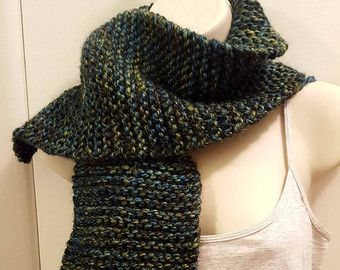 Peacock - inspired infinity scarf