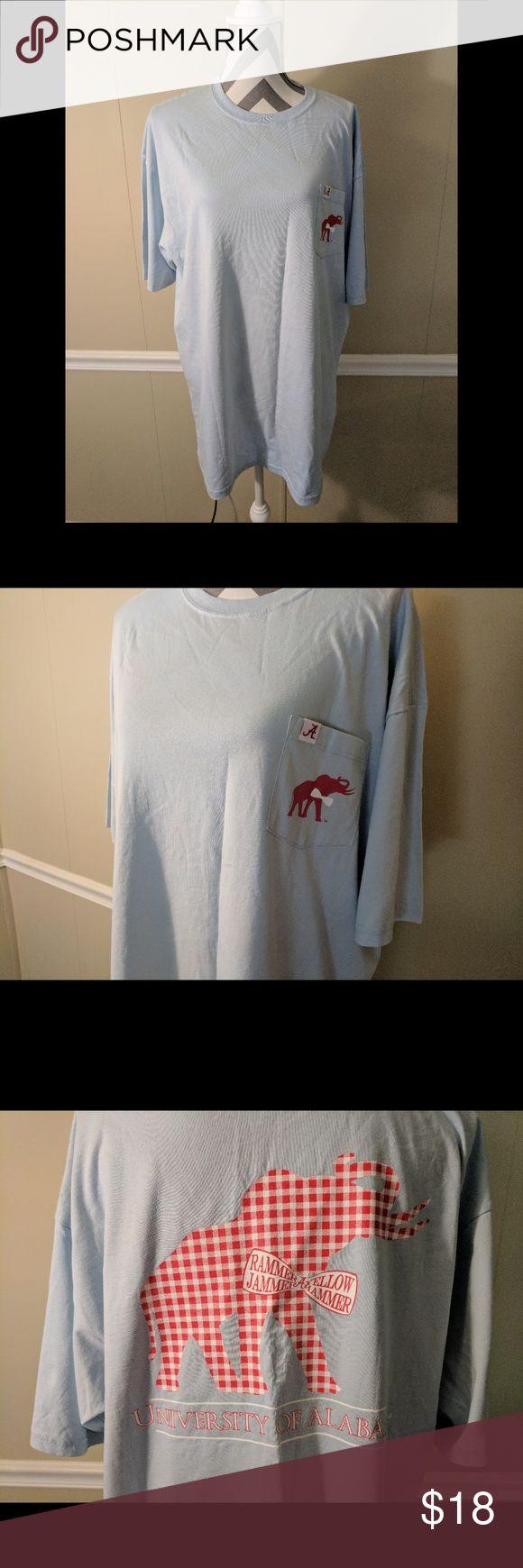 T shirt design huntsville al - University Of Alabama T Shirt Beautiful Light Blue University Of Alabama T Shirt