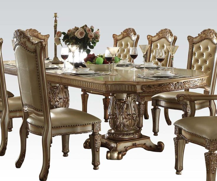 Great Vendome Gold 9 Piece Formal Dining Set
