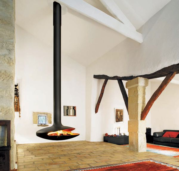 Gyro hanging fireplace by CF+D