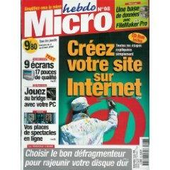 Micro hebdo (n°98) du 02/03/2000 - Créez votre site sur internet - Une base de données avec FileMaker Pro - Un défragmenteur pour rajeunir votre disque dur - 9 écrans 17 pouces de qualité - Jouez au bridge avec votre PC - Changer de carte mère (2) -... [Magazine mis en vente par Presse-Mémoire]
