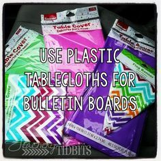 Teachery Tidbits: Cheap and Easy Bulletin Boards I use these to wrap my bookshelves at the end of the year!