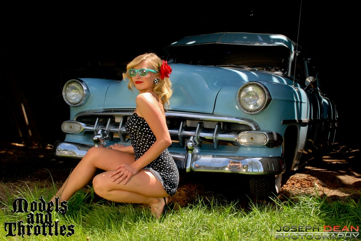 We got to shoot with the lovely Marie of Miss Kiss Kustoms and this awesome 54 Chevy Bel Air owned by Derek of Xotic Customs