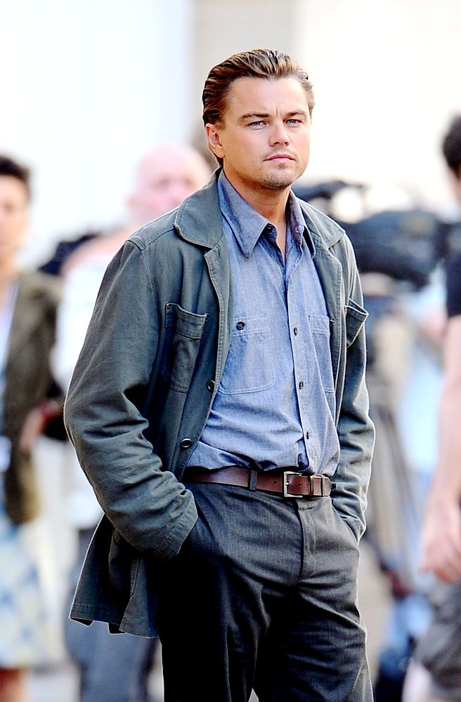 Leonardo DiCaprio in Inception (one of my favorite movies EVER)