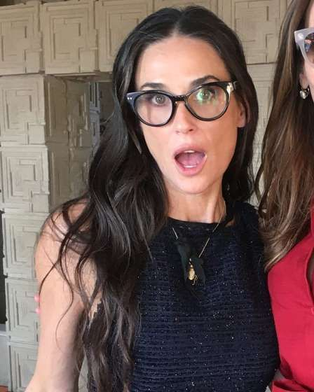 Demi Moore Is a 'Literal Teenager' in Trendy Glasses and Sexy Crop Top