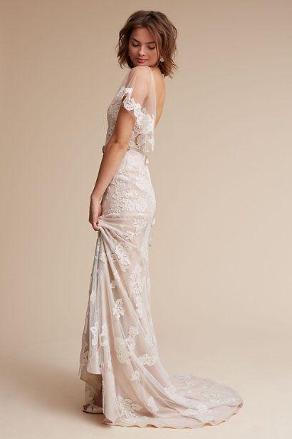 Ivory/champagne Sierra Gown | BHLDN