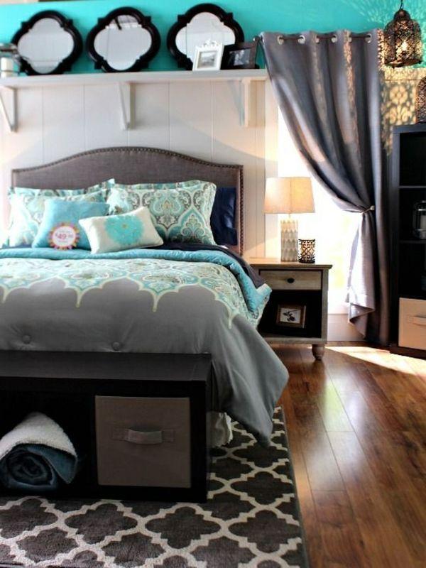 Die besten 25+ Grau türkises schlafzimmer Ideen auf Pinterest ...