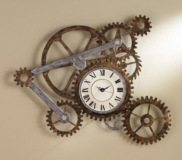 Superb Unique DIY Wall Clock With Bike Rack Wheel