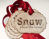 Christmas Tags 2012 - Personalised - Do Not Open Until December 25th - Vintage Gift Tags. $8.00, via Etsy.
