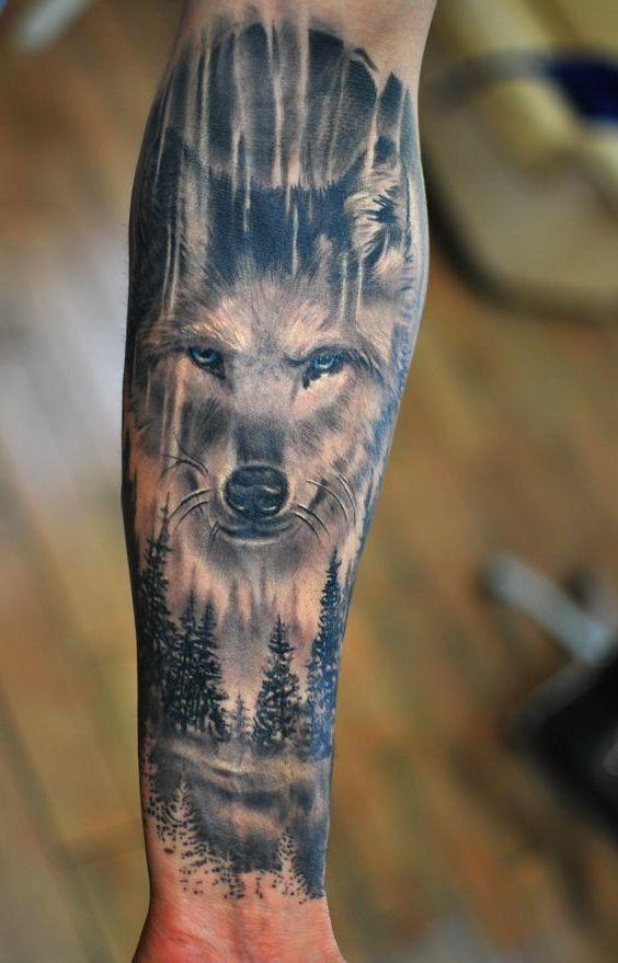 Wolf mann tattoo unterarm 75 innere