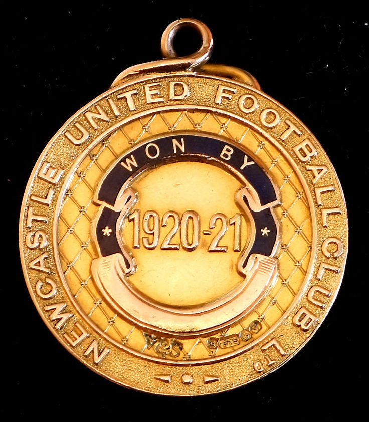 9ct Gold Football Medal (18.4gm). Infirmary Cup Winners 1921 Newcastle United FC    eBay