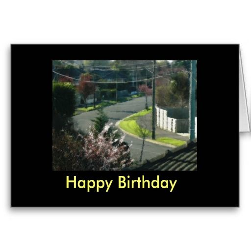 Touch of suburbia Inside reads :  Happy Birthday You are the Best