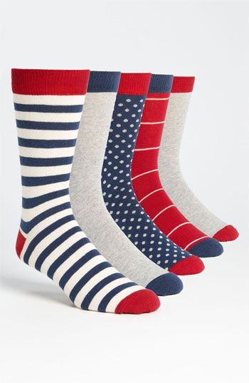 Topman 'Stripe & Spot' Socks (5 Pack) available at Nordstrom