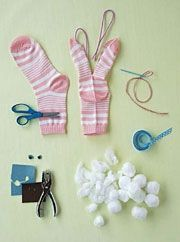incredible Easter Crafts: sock bunnies