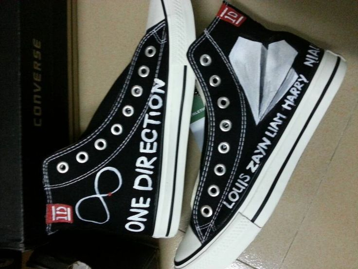 one direction low top painted canvas shoes one