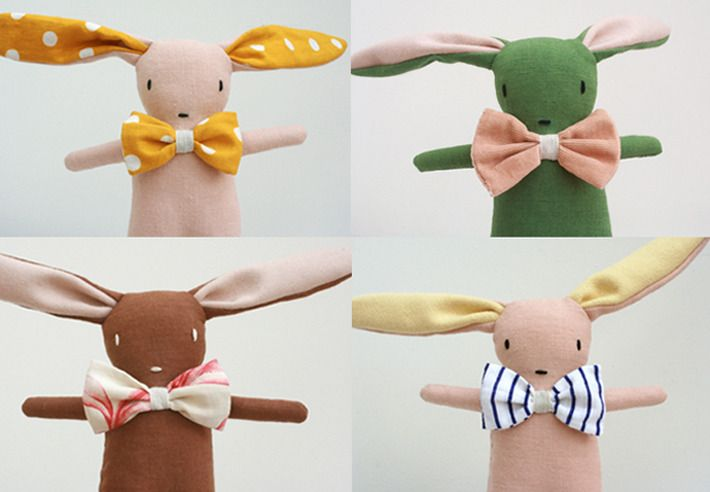 Bunnies and bow ties - a perfect combo!