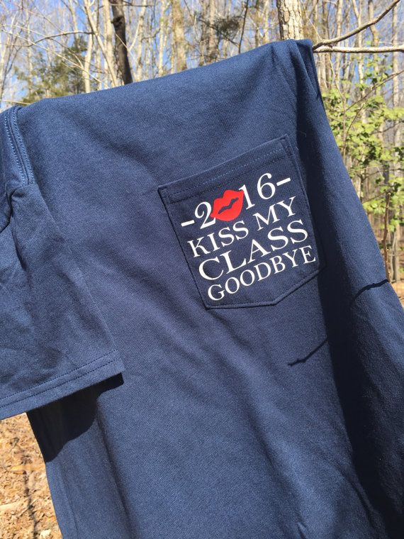 KISS My CLASS GOODBYE Navy Short Sleeve Class of by SattysGifts