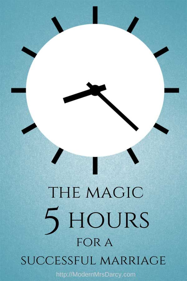 The magic five hours for a successful marriage