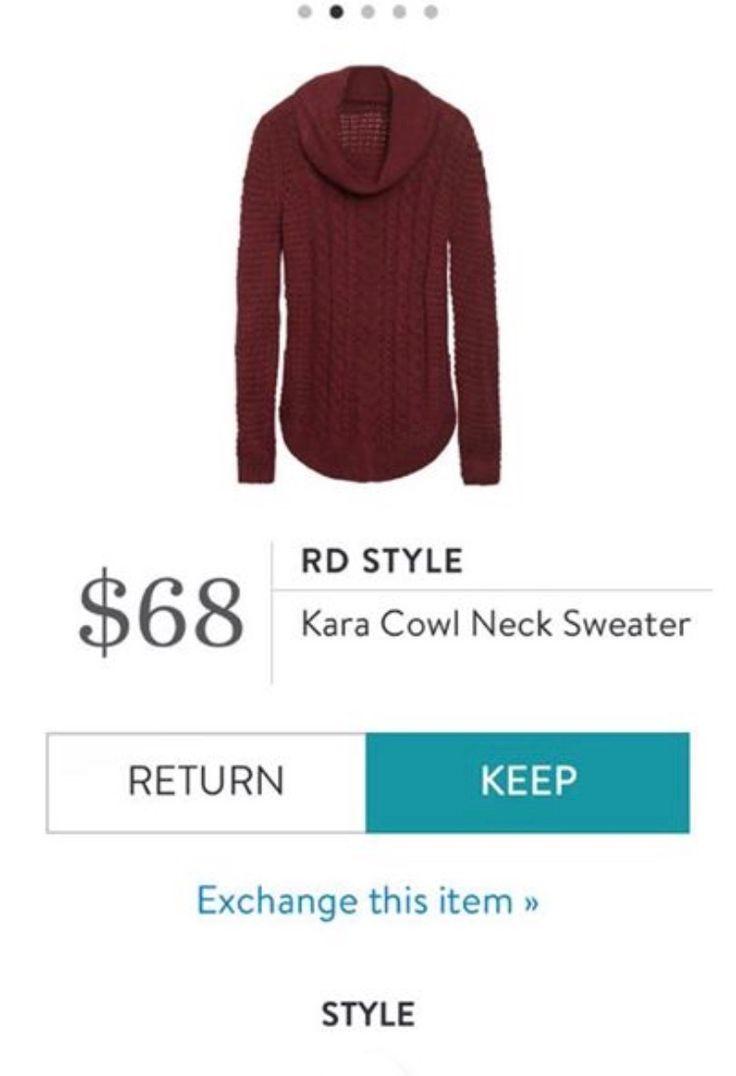 RD Style Kara Cowl Neck Sweater - Stitch Fix ~