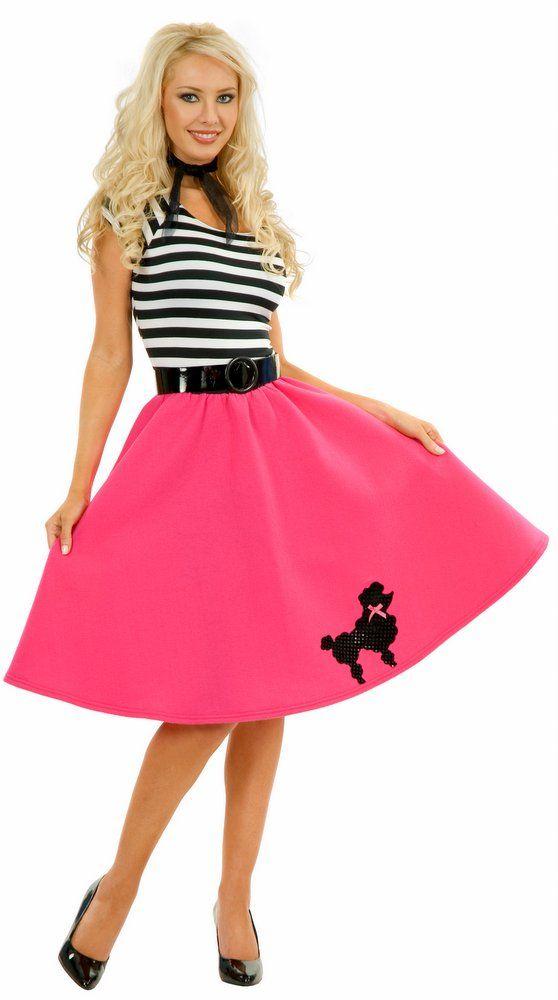 Adult Fuchsia Poodle Dress Costume