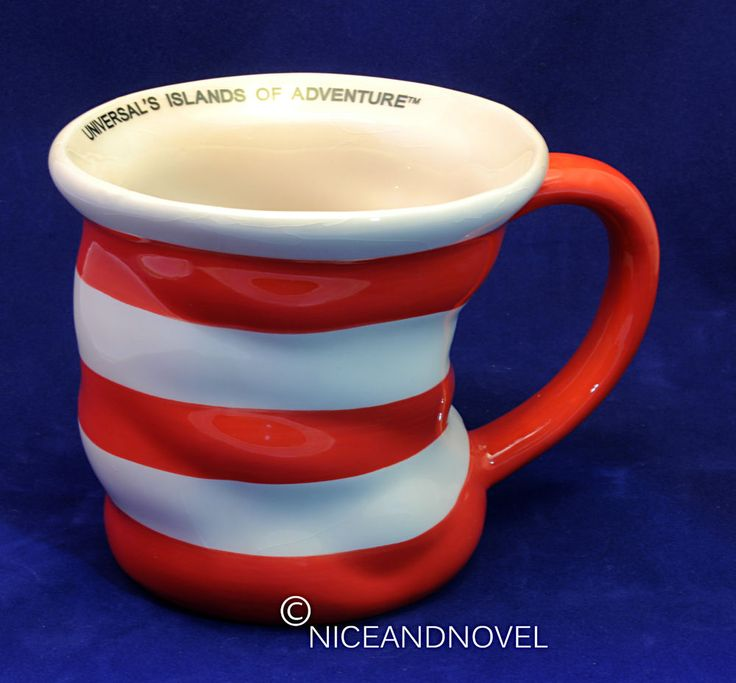 DR. SEUSS CAT IN THE HAT COFFEE MUG  HAT  UNIVERSAL S ISLANDS OF ADVENTURE