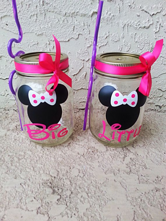 Sorority Big / Little Delta Gamma personalized custom mason cup W / lid bow & straw choose your vinyl color. $8 each https://www.etsy.com/listing/165256856/sorority-big-little-delta-gamma?ref=listing-shop-header-2