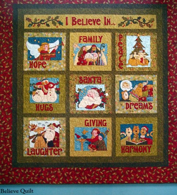 I Believe By Nancy Halvorsen And Art To Heart Christmas Quilting Book by NeedANeedle, $14.75