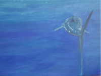 Whale Shark 5  76cm x 102cm  mixed media on canvas  $SOLD