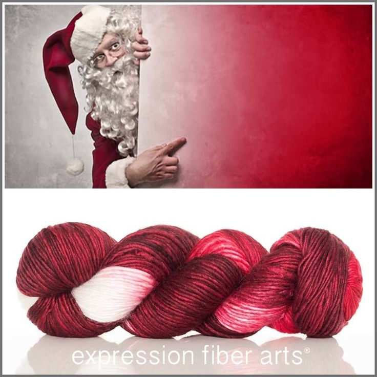 Expression Fiber Arts, Inc. - HO HO HO Limited Edition MERINO SILK PEARLESCENT WORSTED   Free Bag, £23.97 (http://www.expressionfiberarts.com/products/ho-ho-ho-limited-edition-merino-silk-pearlescent-worsted-free-bag.html)