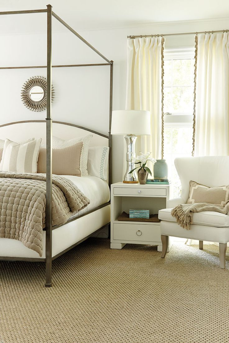 The 2014 Southern Living Idea House I a sophisticated yet cozy light bedroom, designed by Suzanne Kasler