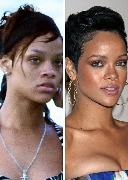 World's Famous Celebrities With And Without Make-Up Rihanna ...  http://www.1000funfacts.com/celebrity/worlds-famous-celebrities-with-and-without-make-up/attachment/rihanna/
