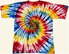 Tie dyed shirt pattern, our softball team shirts were tie dyed. We were cool!