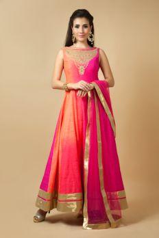 Love the Embroidered Silk Kurta Churidar from BenzerWorld!