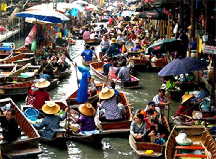 Thailand's floating market.